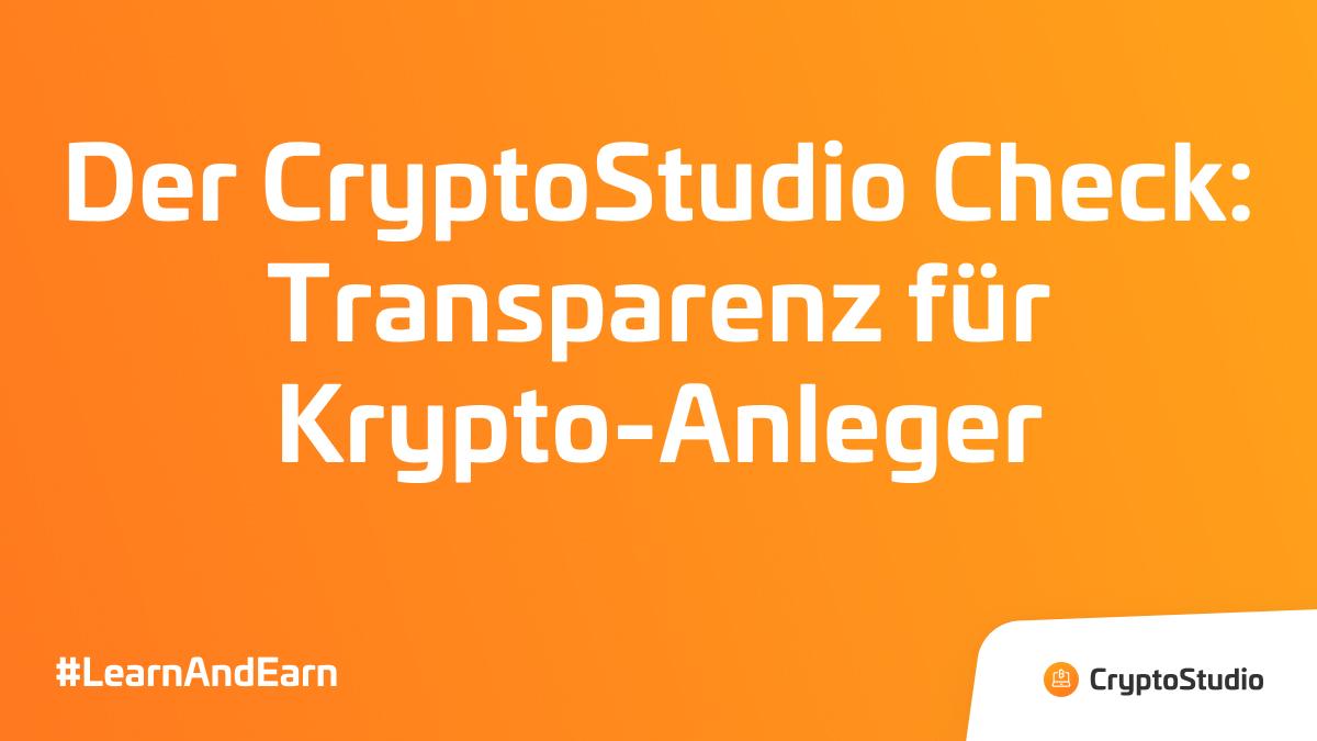 Der CryptoStudio Check